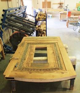 9914-01 Door in woodshop