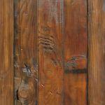 Wood detail on back of pocket door