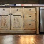 cabinets with antique carved panels