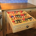 Drawer with spice rack