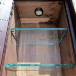 Custom bar cabinet with interior lighting detail