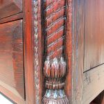Detail of antique columns used in cabinet