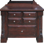 Detail of base cabinet of custom bar