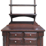 Custom coffee bar cabinet