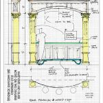 The drawing of how the bar is constructed and the placement of the iron foot rail