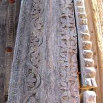 Another detail of carving on antique door surround used to make home bar front