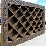 Angle photo of custom bookshelves