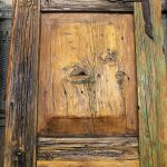 Detail of antique gate patina