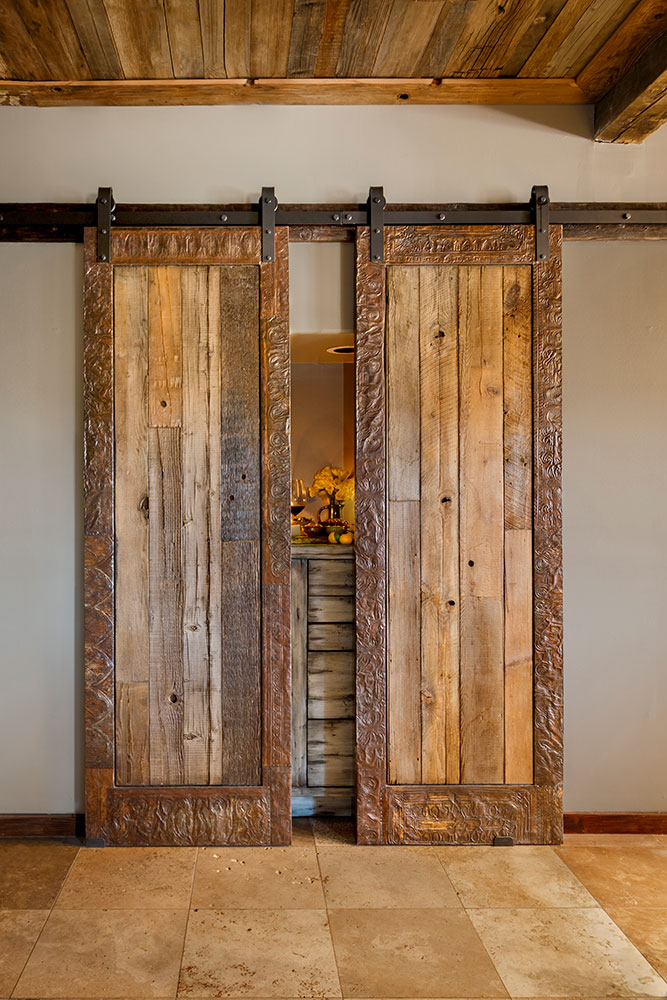 Tin Edged Barn Sliding Doors La Puerta Originals