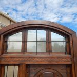 Custom grilled transom