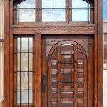 Front entry with transom and sidelight
