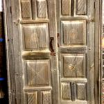 Antique doors with carved panels