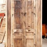 back of antique door with columns surround