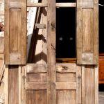 back detail of antique door with columns surround