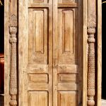 antique door with columns surround
