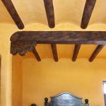 Antique beams headers and corbels installation photo