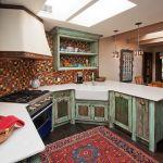 Custom kitchen island back detail