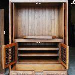 Detail of custom media cabinet interior