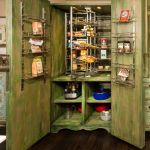 Pantry cabinet revolving shelves