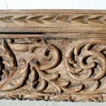 Detail of front of carved mantel