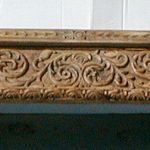 Front of carved mantel