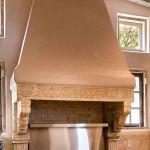 Detail of custom stove hood