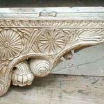 Carved antique corbels