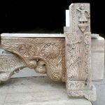Antique corbels used to make stove hood