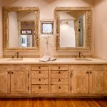 Carved vanity and mirrors
