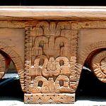 Antique corbel bench