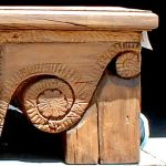 Detail of corbel in bench