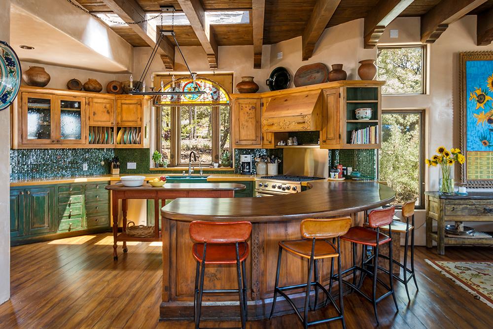 Iron Wood Kitchen Furniture