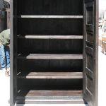 Interior detail of custom storage armoire