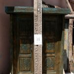 Antique carved panels for gate surround