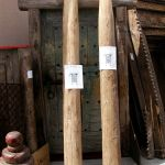 Antique posts for gate surround