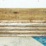 Antique beam fireplace mantel