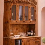 Custom kitchen bar hutch