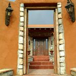 Custom front door with sidelights