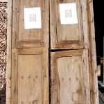 Antique Mexican doors used to make custom front entry