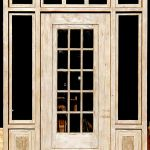 Custom entry with carved antique panels