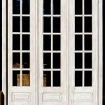 Front of French door with sidelight