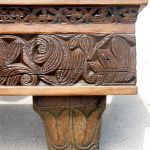 mantel with carving