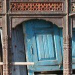 Crop detail of antique door surround