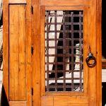 Back of custom entry gate