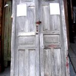 Classic six panel antique Mexican doors