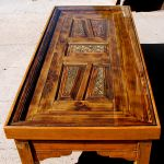 Coffee table with carved panels new color