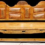 bench with carved panels