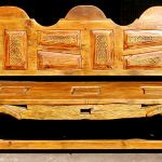bench with carved panels added