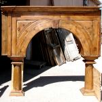 One of three arches for this custom ranch bar