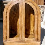 An example of arched cabinet for custom ranch bar